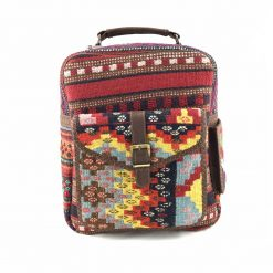 Heather Backpack Handmade with Handwoven Persian Kilim TruFlair