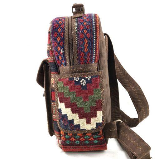 Heather Backpack Handmade with Handwoven Persian Kilim TruFlair