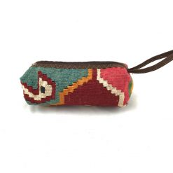 Flamingo Cosmetics Pouch Handmade with Handwoven Persian Kilim TruFlair