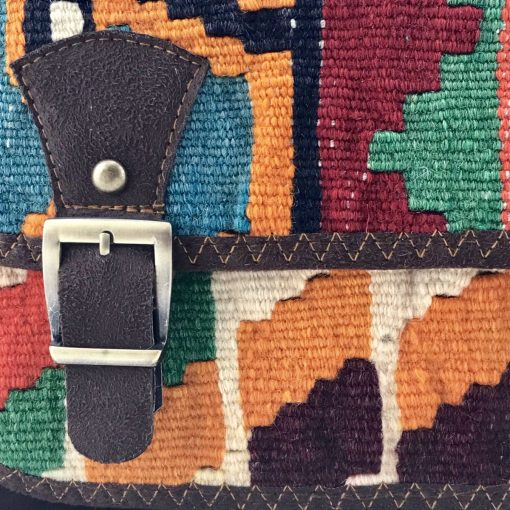 Gerbera Messenger Handmade with Handwoven Persian Kilim TruFlair