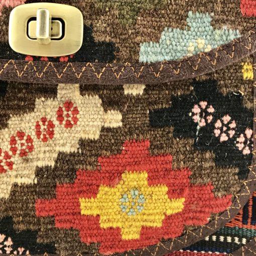 Bouvardia Crossbody Handmade with Handwoven Persian Kilim TruFlair