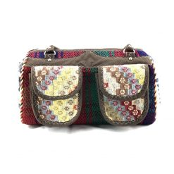 Bumblebee Satchel Handmade with Handwoven Persian Kilim TruFlair