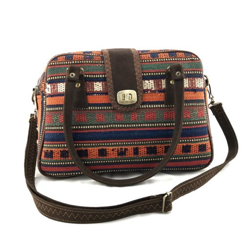 Marmalade Satchel Handmade with Handwoven Persian Kilim TruFlair