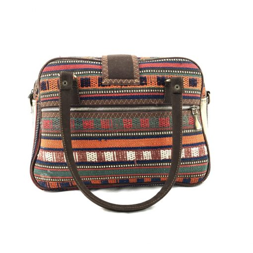 Holly Satchel Handmade with Handwoven Persian Kilim TruFlair