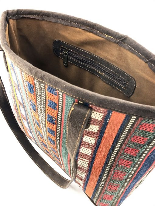 Marmalade Bucket Tote Handmade with Handwoven Persian Kilim TruFlair