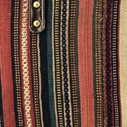 Nigella Bucket Tote Handmade with Handwoven Persian Kilim TruFlair