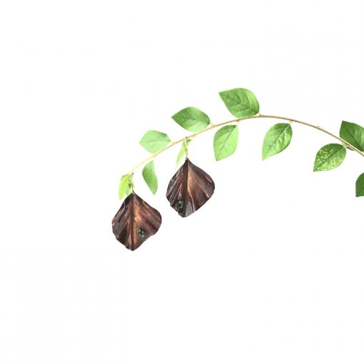 Autumn Leaves Copper Earrings Handmade Jewellery TruFlair