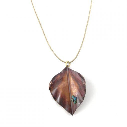 Autumn Leaves Copper Pendant Handmade Jewellery TruFlair