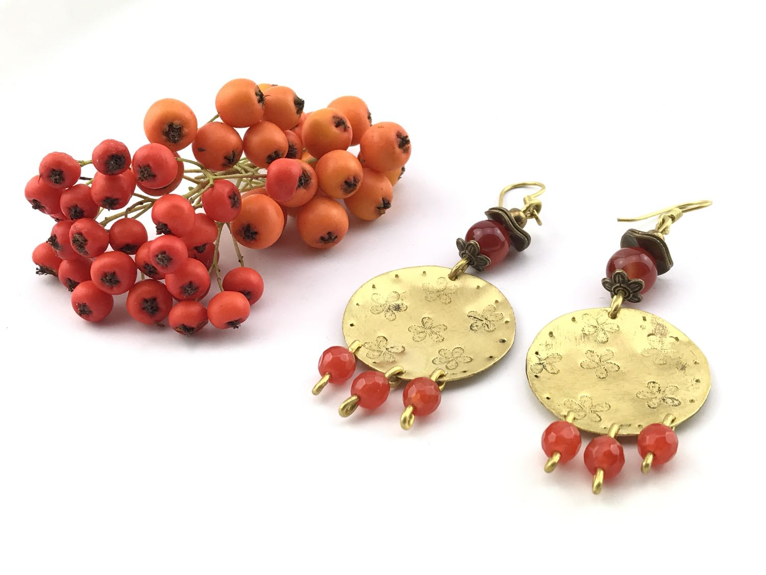 Firethorn Earrings Handmade Jewellery TruFlair