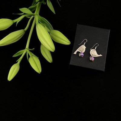 Love Birds Sterling Silver Swarovski Earrings Handmade Jewellery TruFlair