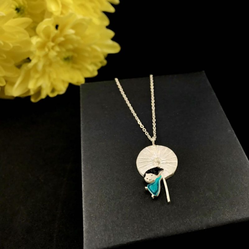 Mademoiselle Dandelion Sterling Silver Pendant Handmade Jewellery TruFlair