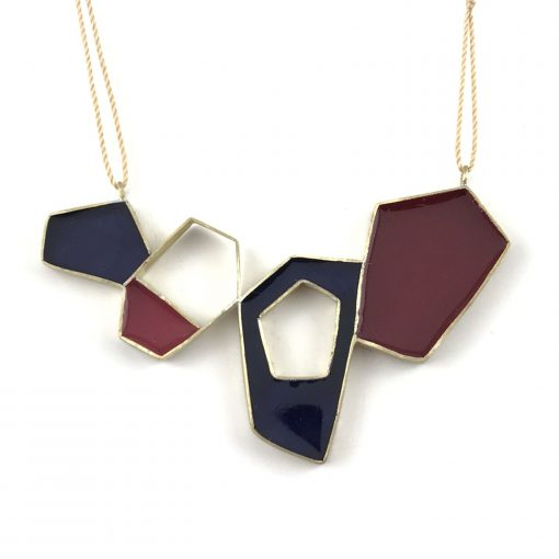 Meteorite Brass Necklace Handmade Jewellery TruFlair