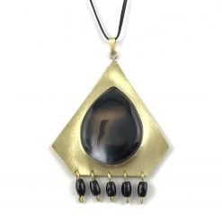 Night Eye Brass Opal Necklace Handmade Jewellery TruFlair