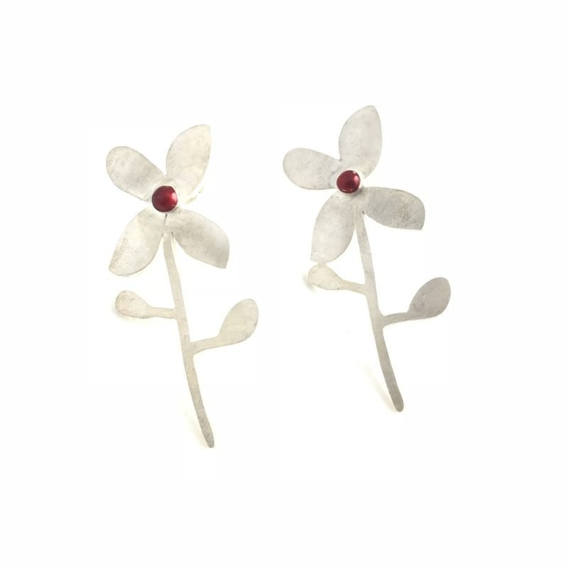 Perpetual Flowers Sterling Silver Earrings Handmade Jewellery TruFlair