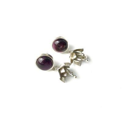 Tiger's Eye Sterling Silver Earrings Handmade Jewellery TruFlair