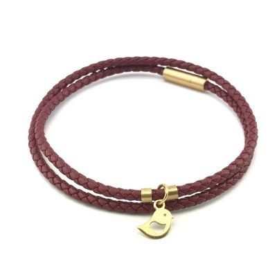 Robin Braid Leather Bracelet 18k Gold Handmade Jewellery TruFlair