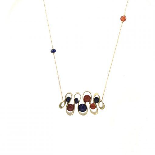Serpentine Brass Necklace Handmade Jewellery TruFlair