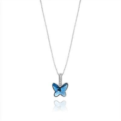 Swarovski Crystal Butterfly Silver Pendant TruFlair Online Boutique