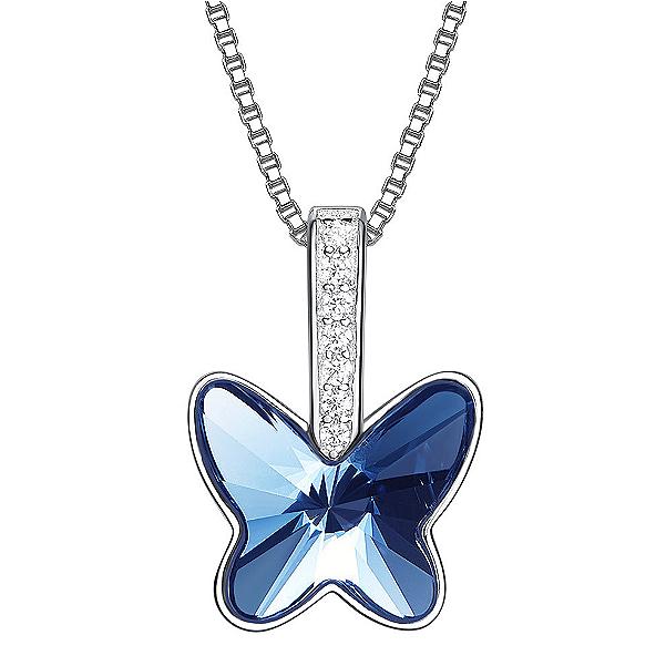 Swarovski Crystal Butterfly Silver Pendant TruFlair Online Boutique