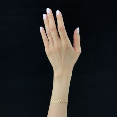 Golden Leaves Bracelet Gold-plated Sterling Silver TruFlair Online Boutique