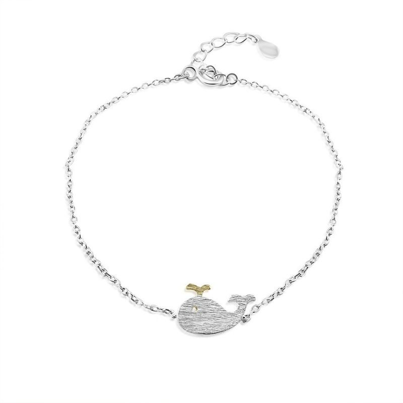 Little Moby Brushed Sterling Silver Bracelet TruFlair Online Boutique