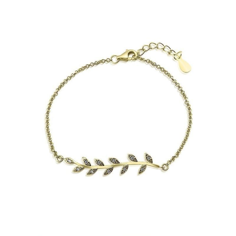 Golden Leaves Bracelet Gold-plated Sterling Silver TruFlair Online Boutique