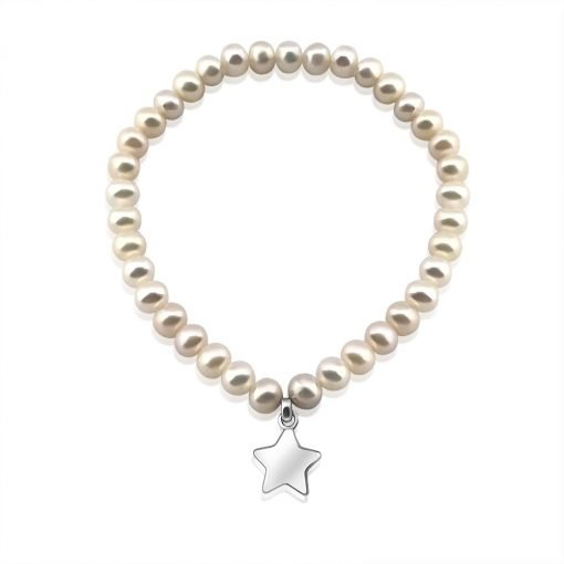 Freshwater Pearl Bracelet Beaded Star Sterling Silver Charm TruFlair Online Boutique