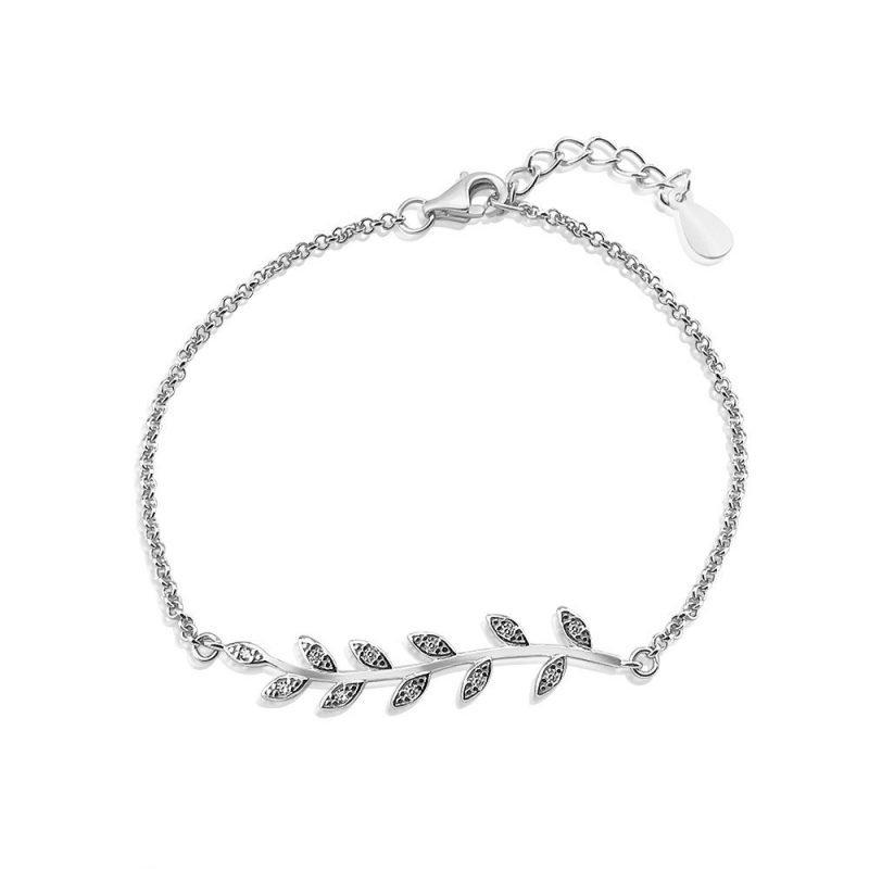 Silver Leaves Bracelet Sterling Silver TruFlair Online Boutique