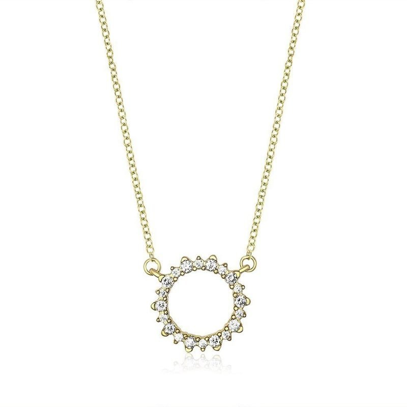 Round Sparkle Silver Cubic Zirconia Necklace TruFlair Online Boutique