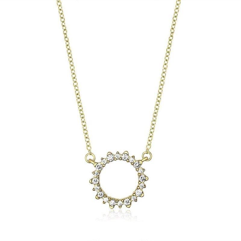 Round Sparkle Silver Cubic Zirconia Necklace TruFlair Online Boutique