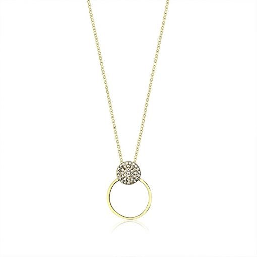 Sparkling Paved Circle Silver Cubic Zirconia Necklace TruFlair Online Boutique