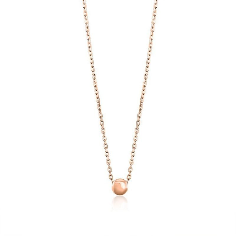 Sterling Button Rose Gold Pendant TruFlair Online Boutique