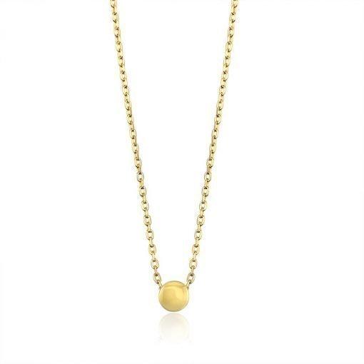 Sterling Button Gold Pendant TruFlair Online Boutique