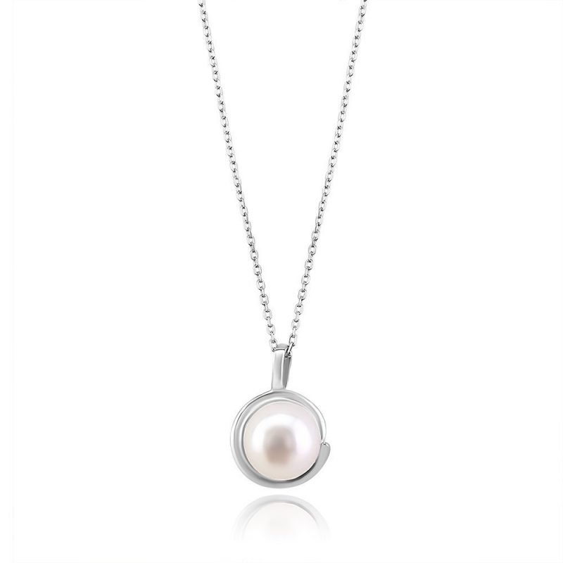 Twist Freshwater Pearl Sterling Silver Pendant TruFlair Online Boutique