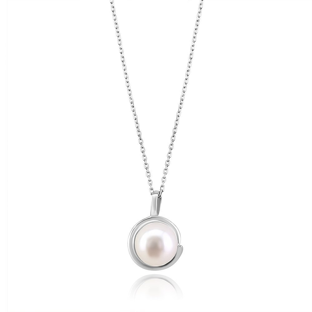 Twist freshwater pearl pendant sterling silver contemporary twist freshwater pearl sterling silver pendant truflair online boutique aloadofball Image collections