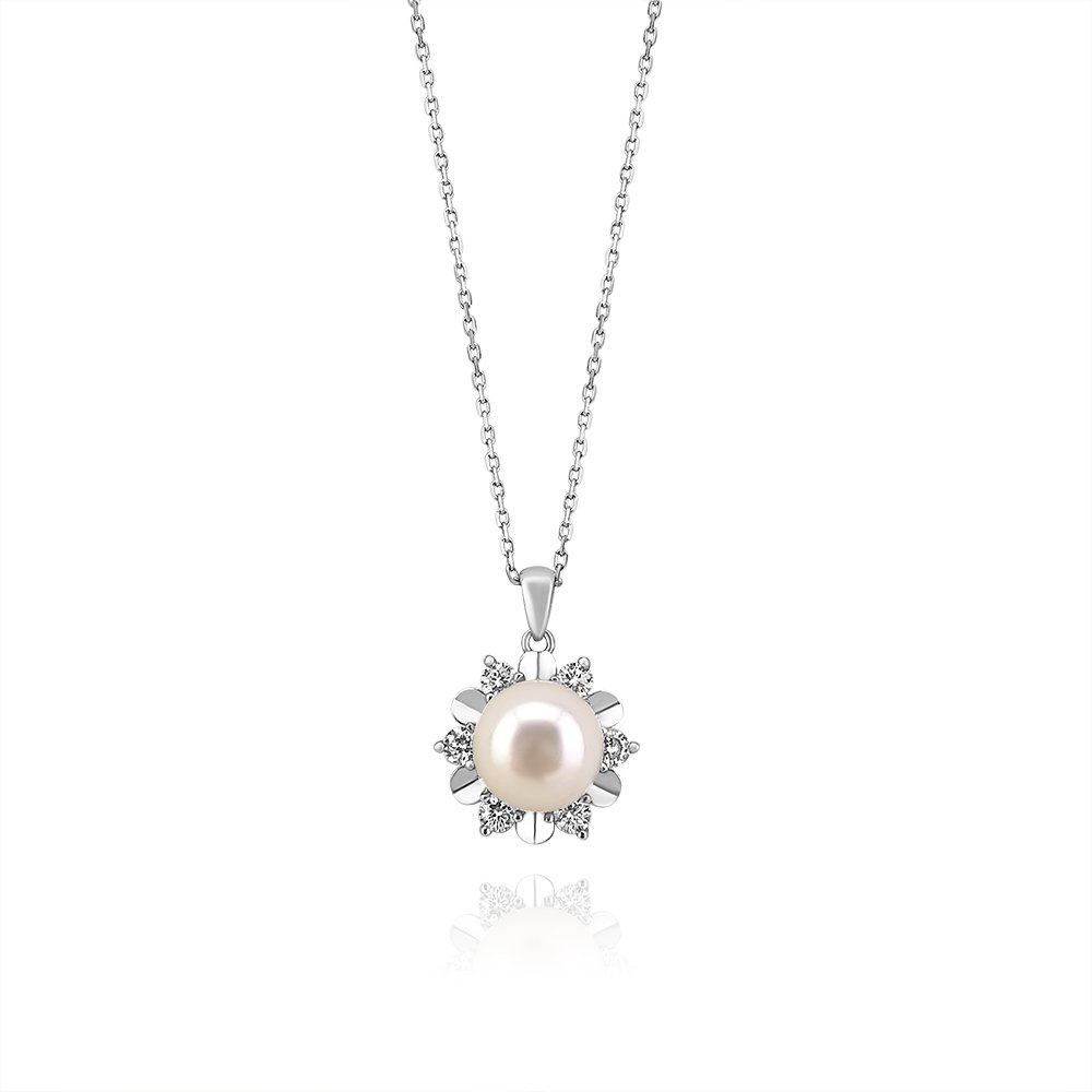 Star freshwater pearl pendant sterling silver contemporary star freshwater pearl sterling silver pendant truflair online boutique aloadofball Image collections
