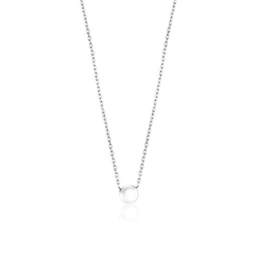 Sterling Button White Gold Pendant TruFlair Online Boutique