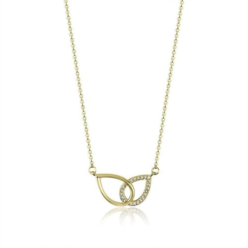 Interlocked Drops Gold Plated Sterling Silver Cubic Zirconia TruFlair Online Boutique