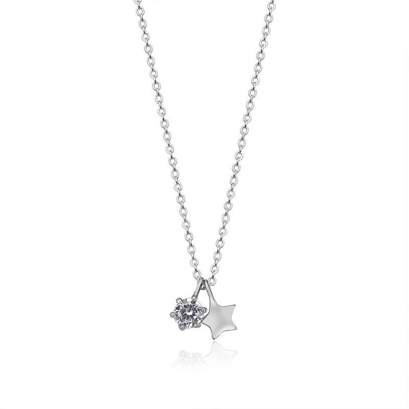 Star Crystal Pendant Sterling Silver TruFlair Online Boutique