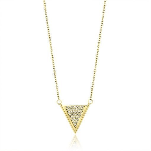 Victory Paved Necklace Gold Plated Sterling Silver Necklace TruFlair Online Boutique