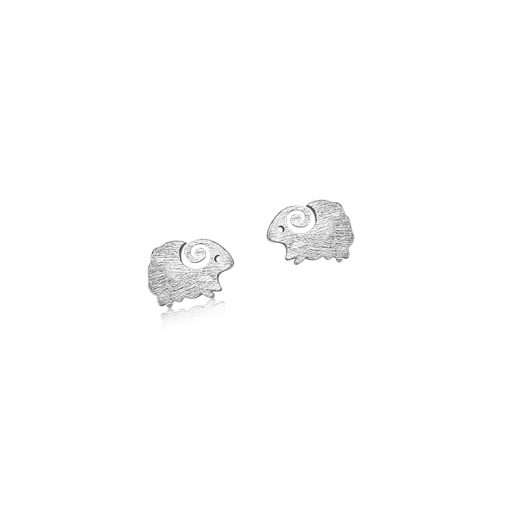 Moorit Sheep Brushed Sterling Silver Earrings TruFlair Online Boutique