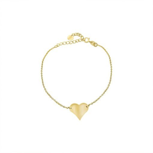 Heart Gold-plated Gold Vermeil Bracelet Sterling Silver TruFlair Online Boutique