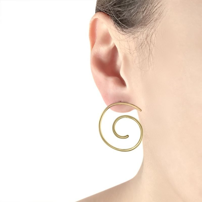 Large Spring Gold Plated Sterling Silver Earrings TruFlair Online Boutique