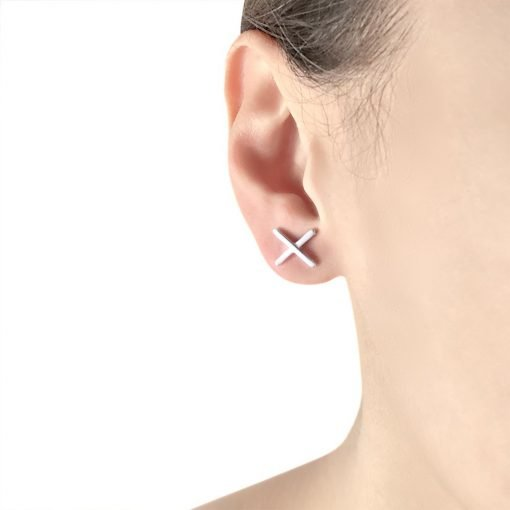 X Sterling Silver Stud Earrings TruFlair Online Boutique