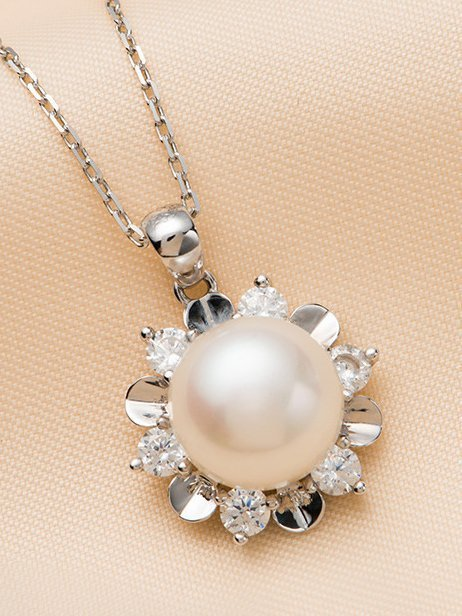Star Freshwater Pearl Sterling Silver Pendant TruFlair Online Boutique