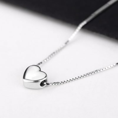 Tiny Heart Sterling Silver Pendant TruFlair Online Boutique