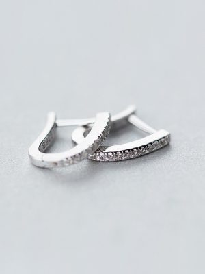 Tiny Crystal Sterling Silver Earrings TruFlair Online Boutique