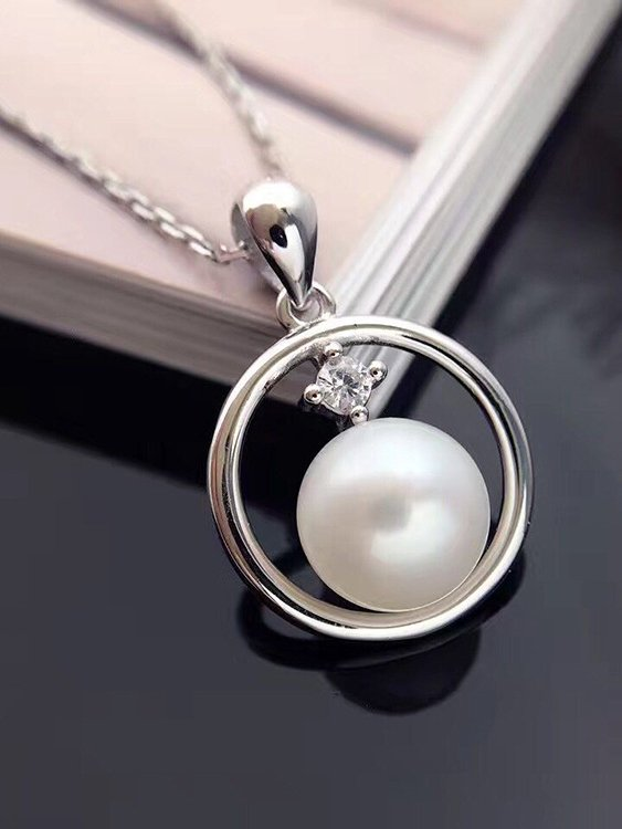 Encircled Freshwater Pearl Sterling Silver Pendant TruFlair Online Boutique