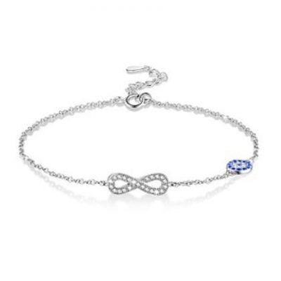Infinity Sterling Silver & Zirconia Bracelet TruFlair Online Boutique