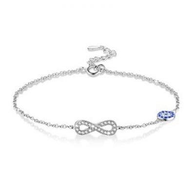 Infinity Sterling Silver & Zirconia Bracelet TruFlair Online Boutique